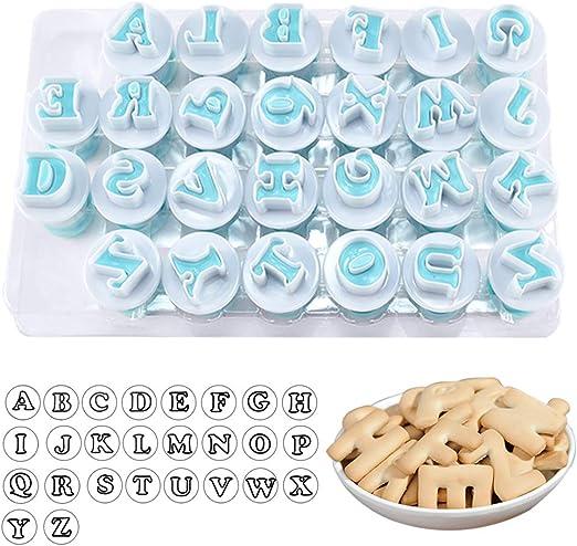 Number Alphabet Letter Cookies Biscuit Fondant Cake Stamp Embosser Mold Cutter