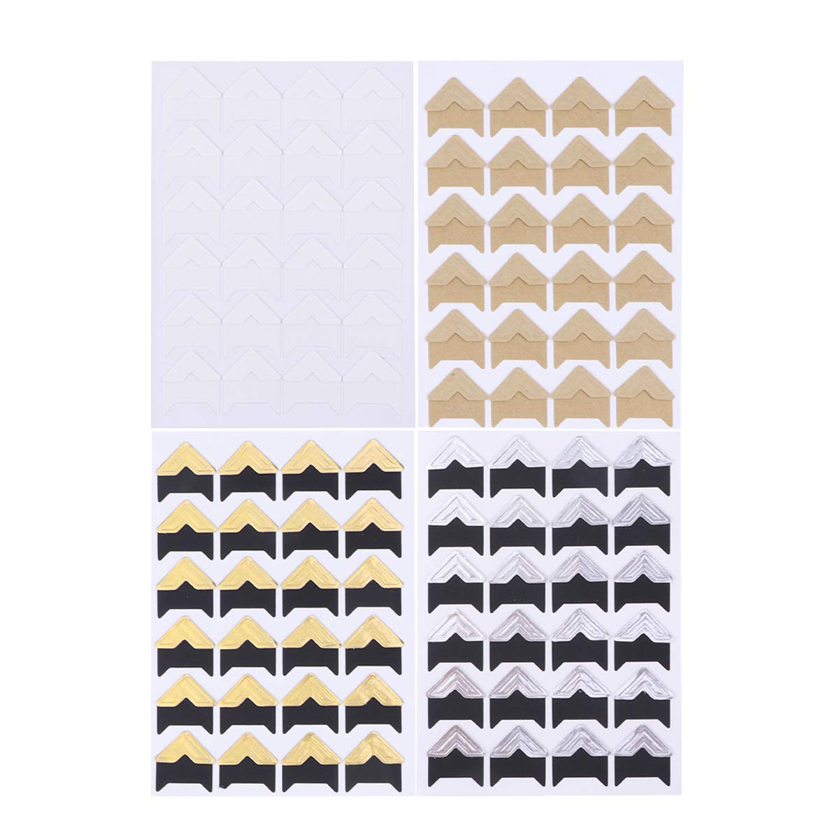 Toyvian 20 Sheets of Self Adhesive Photo Corners for scrapbooks Memory Books