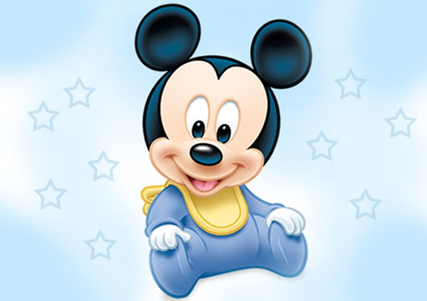 Surprising Amazon Com Baby Mickey Mouse Shower Edible Cake Topper Frosting 1 Personalised Birthday Cards Sponlily Jamesorg