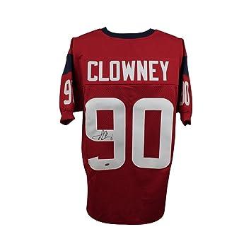 f1a50873d Jadeveon Clowney Autographed Houston Texans Custom Red Football Jersey -  Leaf COA