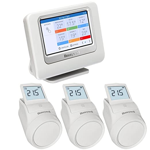 Homexpert By Honeywell THR993RT Honeywell evohome sistema para el control de la temperatura - Kit 3 zonas, Blanco: Amazon.es: Hogar