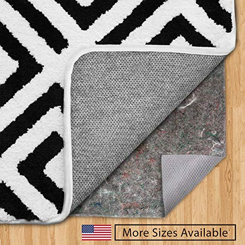 (Gorilla Grip Original Felt + Rubber Underside Gripper Area Rug Pad (3' x 5'), Made in USA, Extra Thick, for Hardwood & Hard Floors, Plush Cushion Support for Under Carpet Rugs, Protects Floors)