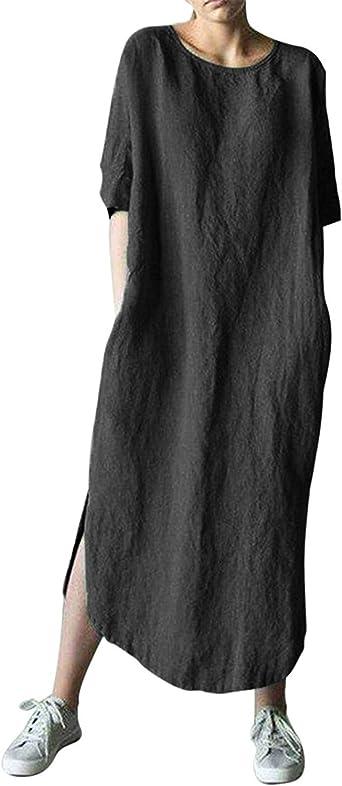 Maxi Grey Dress  Loose Sleeve Dress  Oversize Grey Tunic Top  Large Pocket Dress  Comfortable Thick Dress  Plus Size Maxi Dress