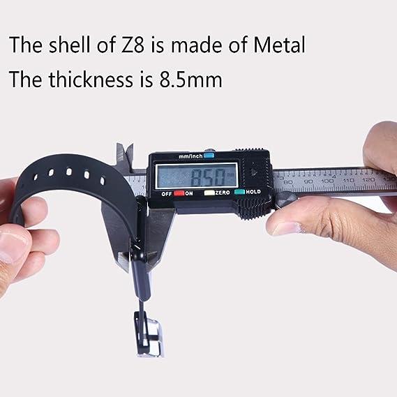 vanpower Z8 SmartBand IP65 impermeable pulsómetro alarma reloj podómetro reloj: Amazon.es: Electrónica