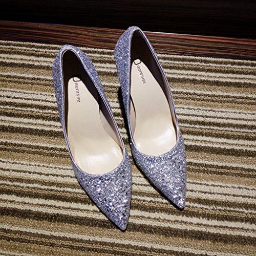 Zapatos de Tacón Alto de Tacón Alto con Zapatos de Mujer Puntiagudos F