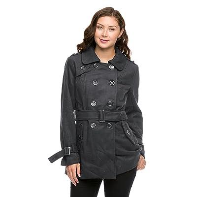 3f6fa92666cfc 2016 Nouveau Mode Femme Noir Gris à manches longues double boutonnage  Manteau en laine et Estompe. Now €23.74€35.94. 2LUV - Veste de tailleur -  Femme