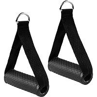 Dadabig 2 stuks eenhands handgrepen voor weerstandsbanden, siliconen handgrepen met massieve ABS-kernen, kabeltrekgreep…