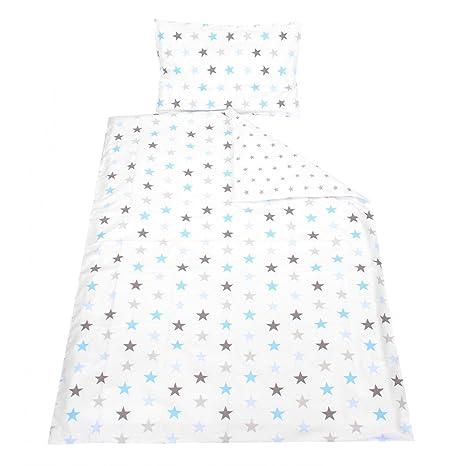 Tuptam Kinder Bettwäsche Gemustert 2 Teilig Farbe Sterne Graublau