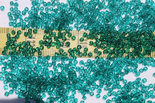 10/0 Old Time Vintage Venetian Tr Aquamarine #1 Square Hole Seed Beads for Jewelry Making, Supply for DIY Beading Projects/1oz