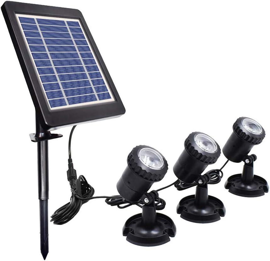 Lixada Luces Solares para Estanques Control de luz Sensor Brillo Efectos IP68 Resistencia al Agua Incorporado Batería Recargable de Alta Capacidad para Piscina Fuente de Estanque Patio
