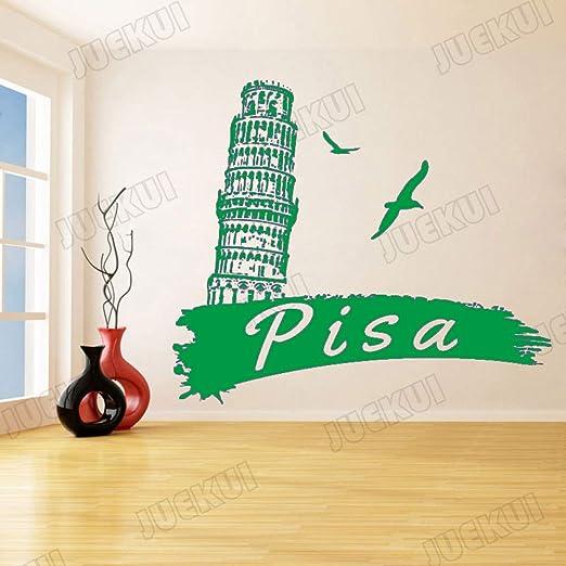 zqyjhkou Pisa Arquitectura clásica Etiqueta de la Pared para Sala ...