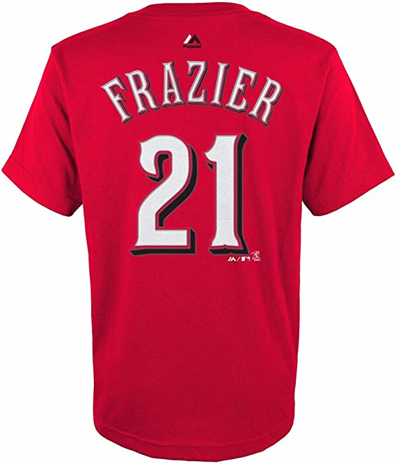Majestic Todd Frazier Cincinnati Reds MLB Youth's Red Player Name & Number Jersey T-Shirt