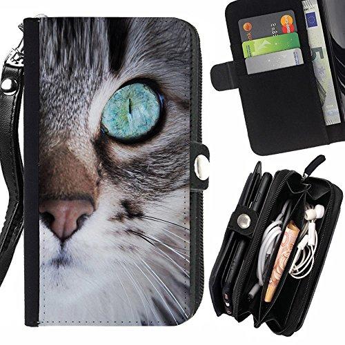 STPlus Gato en una caja Animal Monedero Con Correa y Cremallera Carcasa Funda para Samsung Galaxy A3 (2017) #9