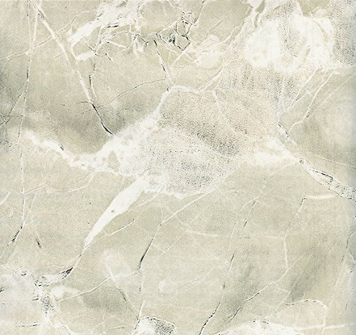 Magic Cover Self-Adhesive Vinyl Contact Paper, Shelf and Drawer Liner, 18-inches by 20-Feet, Marble Ivory