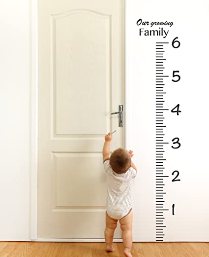 Amazon Giant Vinyl Growth Chart Kit Kids Diy Height Wall