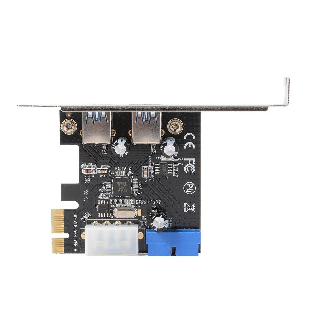 XCSOURCE Desktop PCI-E a USB 3.0 Tarjeta de Expansi/ón con Interfaz USB 3.0 Dos Puertos Conector Frontal de 20 Pines Para Windows XP//Vista//7//8//10 AC328
