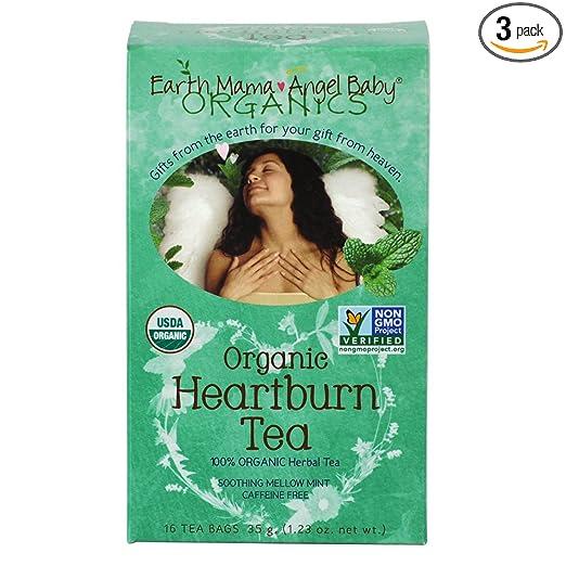 Organic Heartburn Tea for Occasional Pregnancy Heartburn 16 TeabagsBox pack of 3
