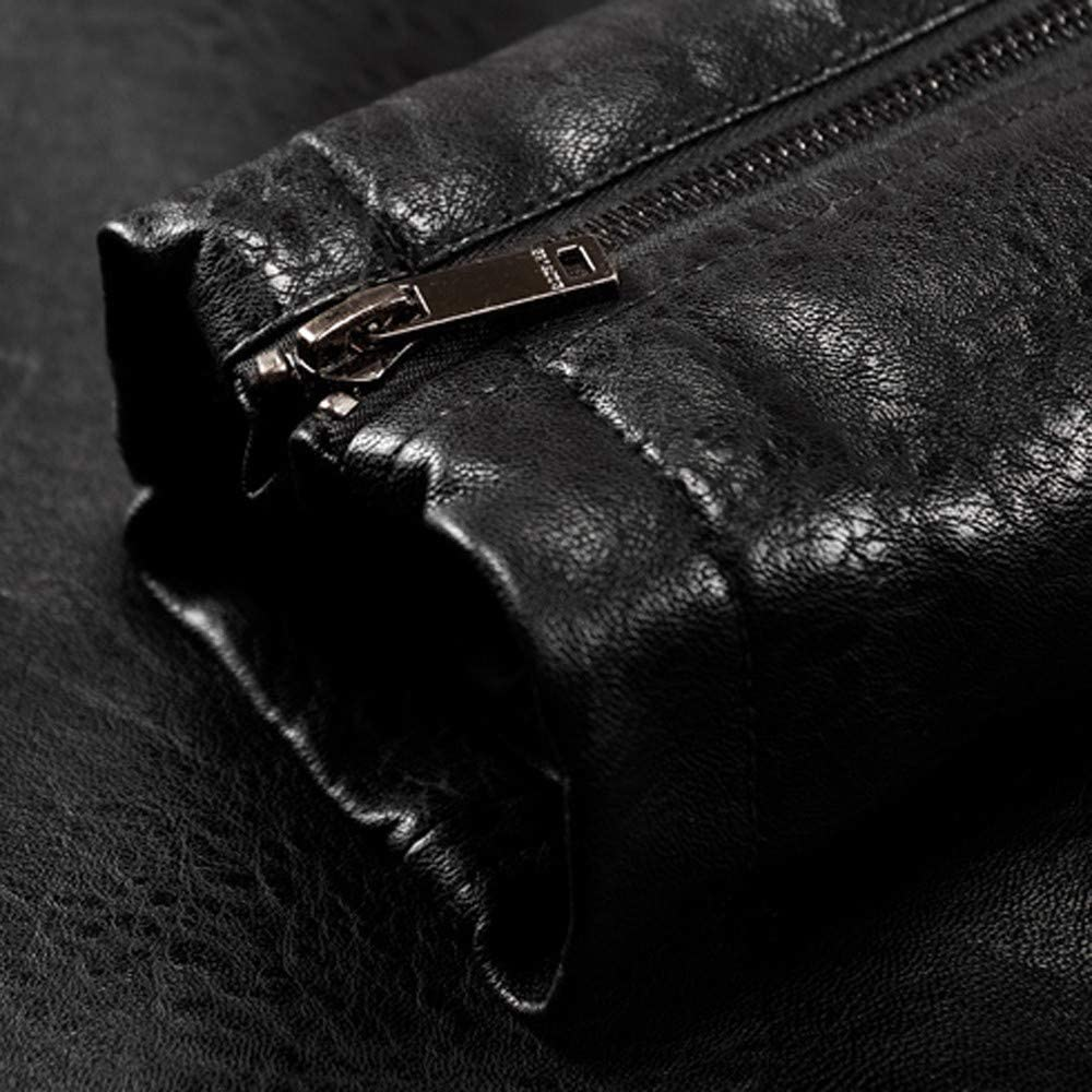 DaySeventh Clothes Men Fashion Winter Lapel Zipper Pocket Cashmere Imitation Thickened