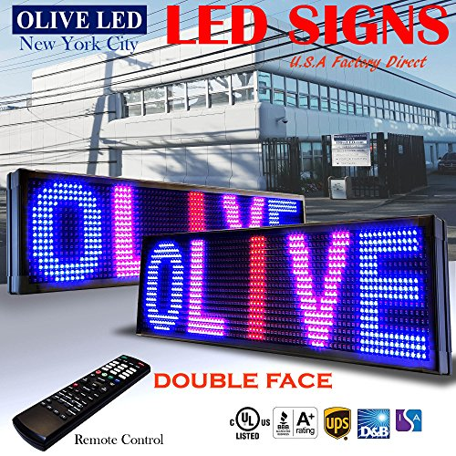 Double Sided Outdoor Led Sign - OLIVE LED Sign 3Color, RBP, 2Face, 15