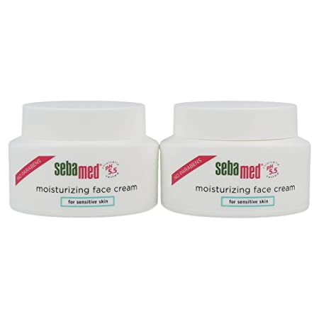 Sebamed Moisturizing Face Cream for Sensitive Skin Antioxidant pH 5.5 Vitamin E Hypoallergenic 2.6 Fluid Ounces 75mL Ultra Hydrating Dermatologist Recommended Moisturizer Pack of 2