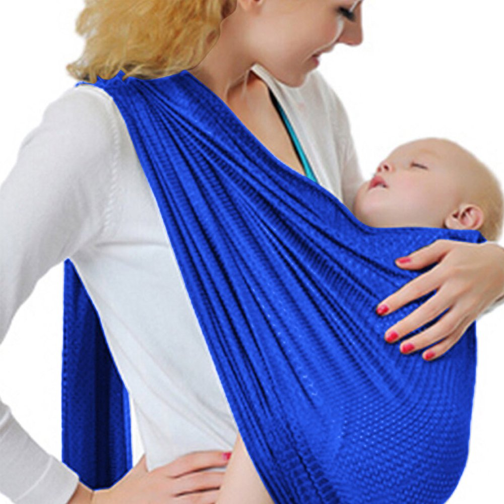 Baby Water Ring Sling and Wrap Carrier for Infant Breathable Quick Dry Mesh Fabric Perfect for Summer Newborn Comfort /& Toddler Adjustable Pool Beach /& Shower Black