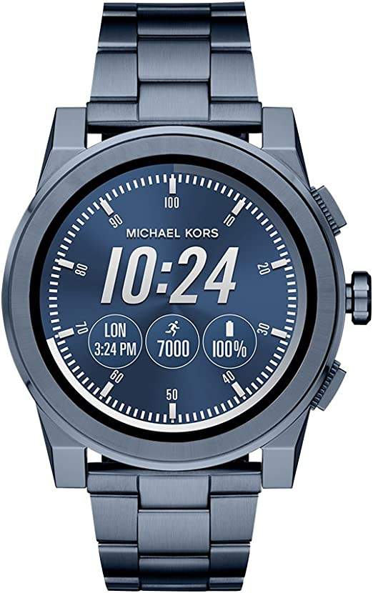 Michael Kors Access, Men's Smartwatch, Grayson Navy Tone Stainless Steel, MKT5027