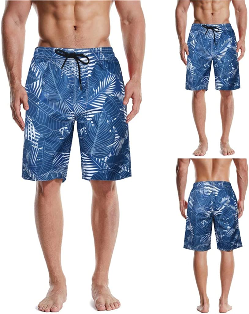 American Patriotism July 4th Day Independence Happy Teen Swim Trunks Bathing Suit Shorts Board Beach