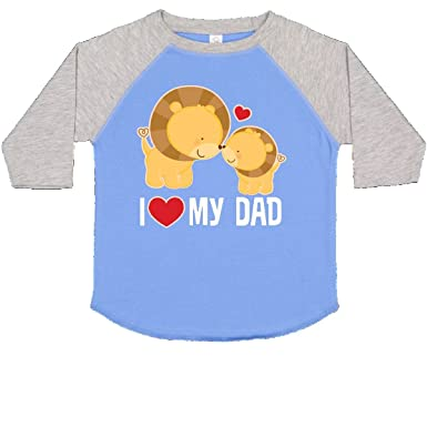 37fe9764 inktastic - Fathers Day I Love My Dad Toddler T-Shirt 2T Blue and Heather