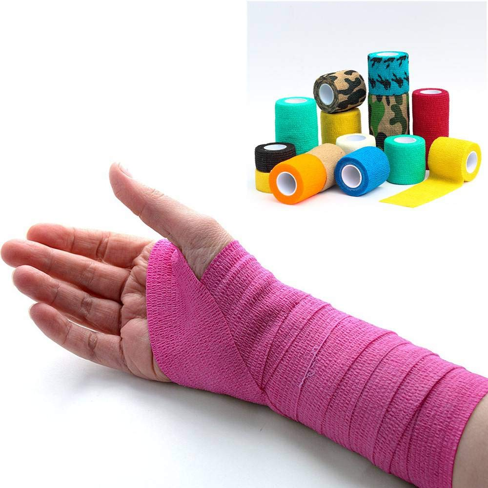Vet Wound Self Adherent Cohesive Wrap Bandages First Aid Tape Color Random Amazing