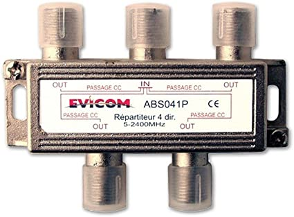 Distribuidor de antena de televisión, TDT y 4 salidas: Amazon ...