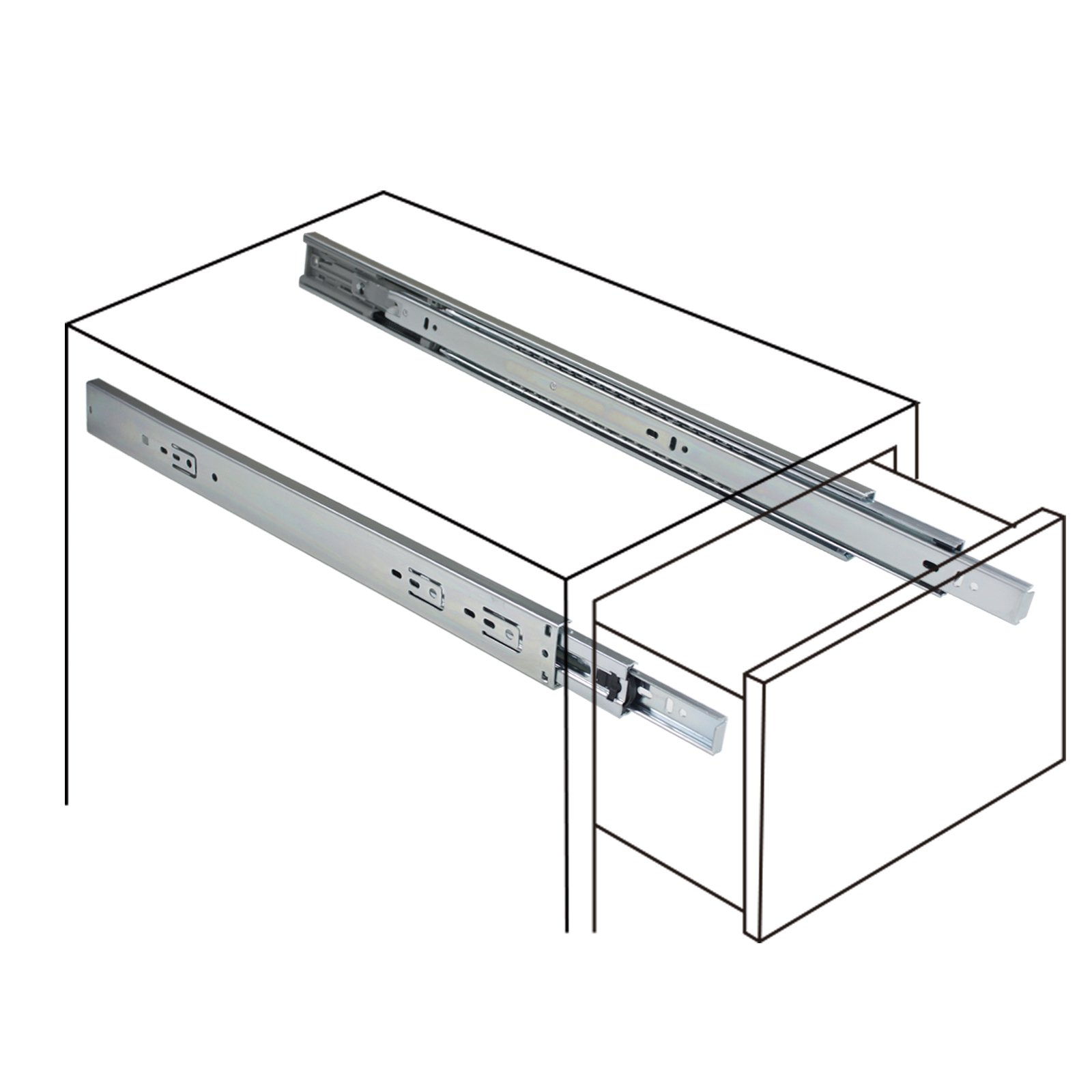 22-Inch Heavy Duty Full Extension Ball Bearing Drawer Slides Soft Close Rail Runners 6Pair(12 Pieces) by Gobrico (Image #6)