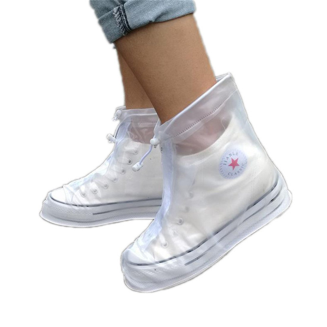chicsoleil resistente al agua lluvia zapatos Covers reutilizable nieve, talla viaje lluvia Gear mujeres hombres