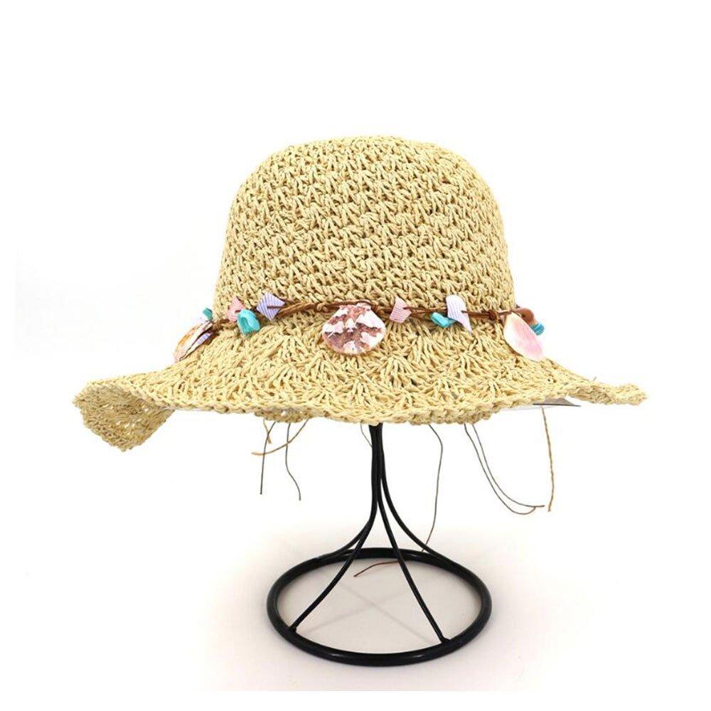 Wxl Nuevo sombrero hecho a mano de crochet sombrero de paja sombrero ...