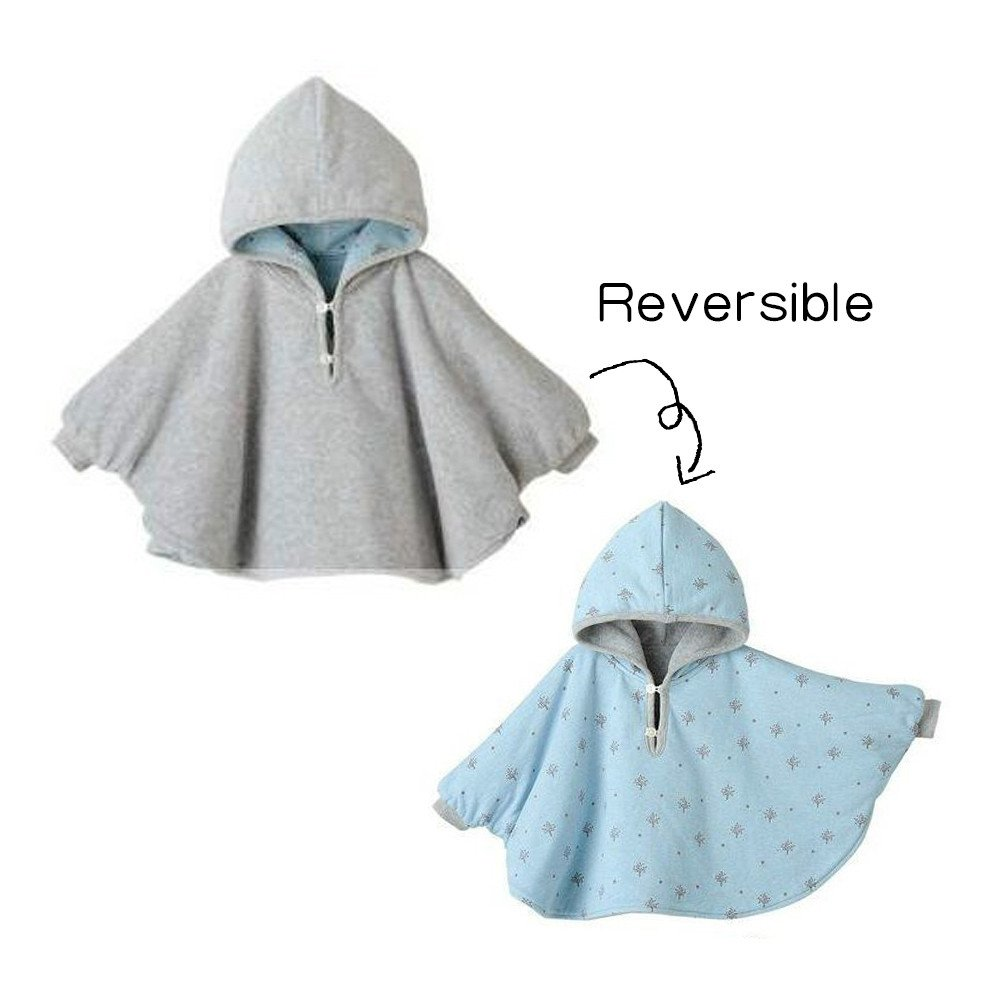 Mud Kingdom Toddler Reversible Fleece Cape Coat ZS0093