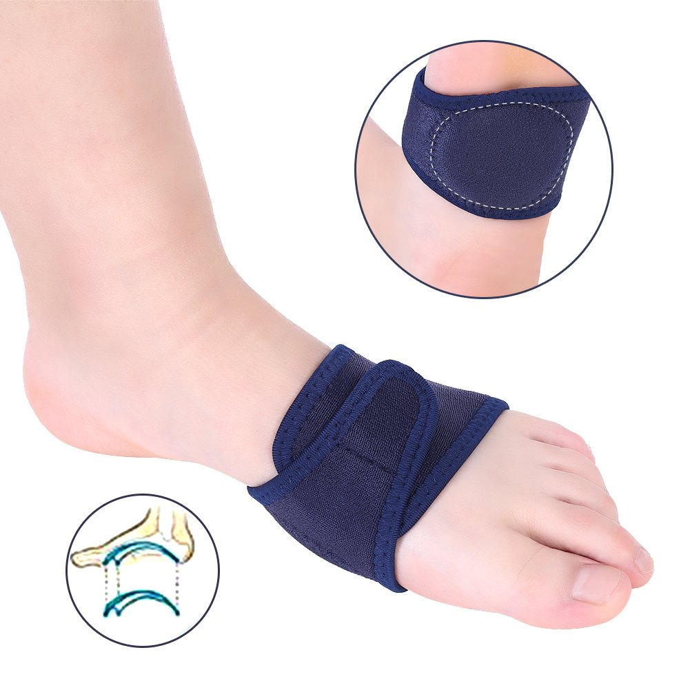 81afdd2c07 Amazon.com: 2 Pair Arch Support Compression Shock Absorber Pad Wraps for  Flat Foot Correction, Fallen Arches and Relieve Spurs Pain: Health &  Personal Care
