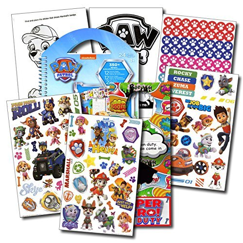 PAW Patrol Stickers Travel Activity Set Bundle with Stickers, Activities, and Specialty 2-sided Door Hanger