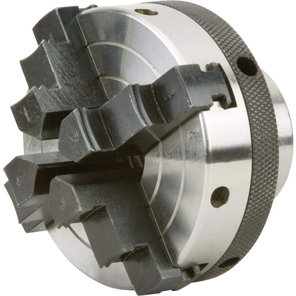 """Grizzly Industrial H7605-3"""" 4 Jaw Chuck 1"""" x 8 TPI"""