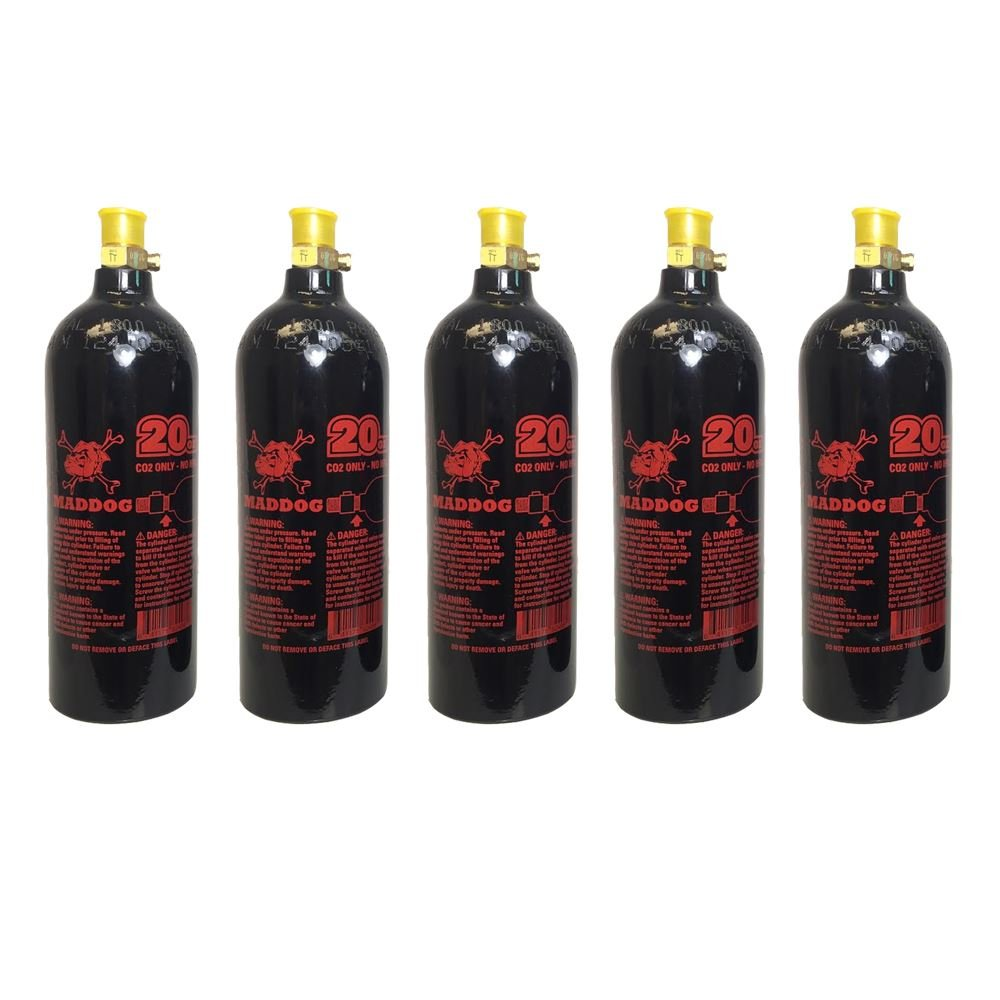 Maddog 20 Oz Aluminum Paintball Tank - 5 Pack by MAddog