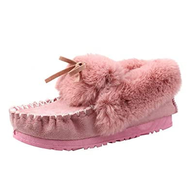 Alonea Women Bowknot Warm Flats Shoes Snow Shoes