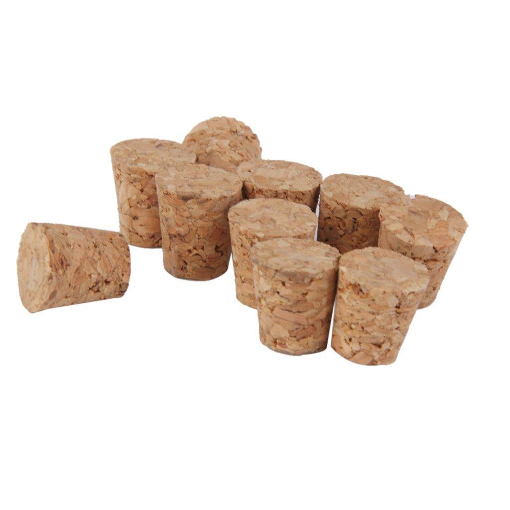 Jilesm 10pcs conique en bois Bouchons en liège Bouchon pour bouteille de vin