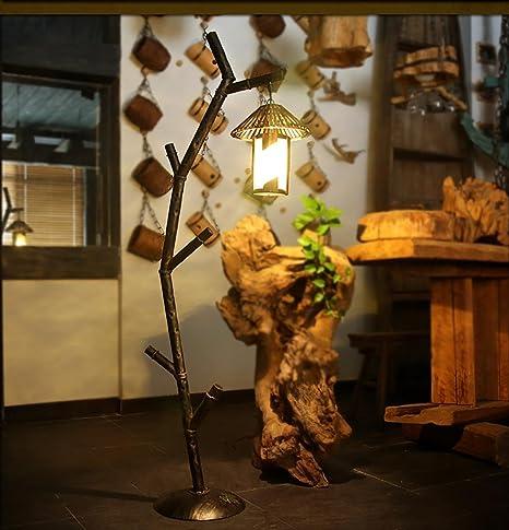 Lámpara de pie Casa de árbol de decoración rama de hierro de ...