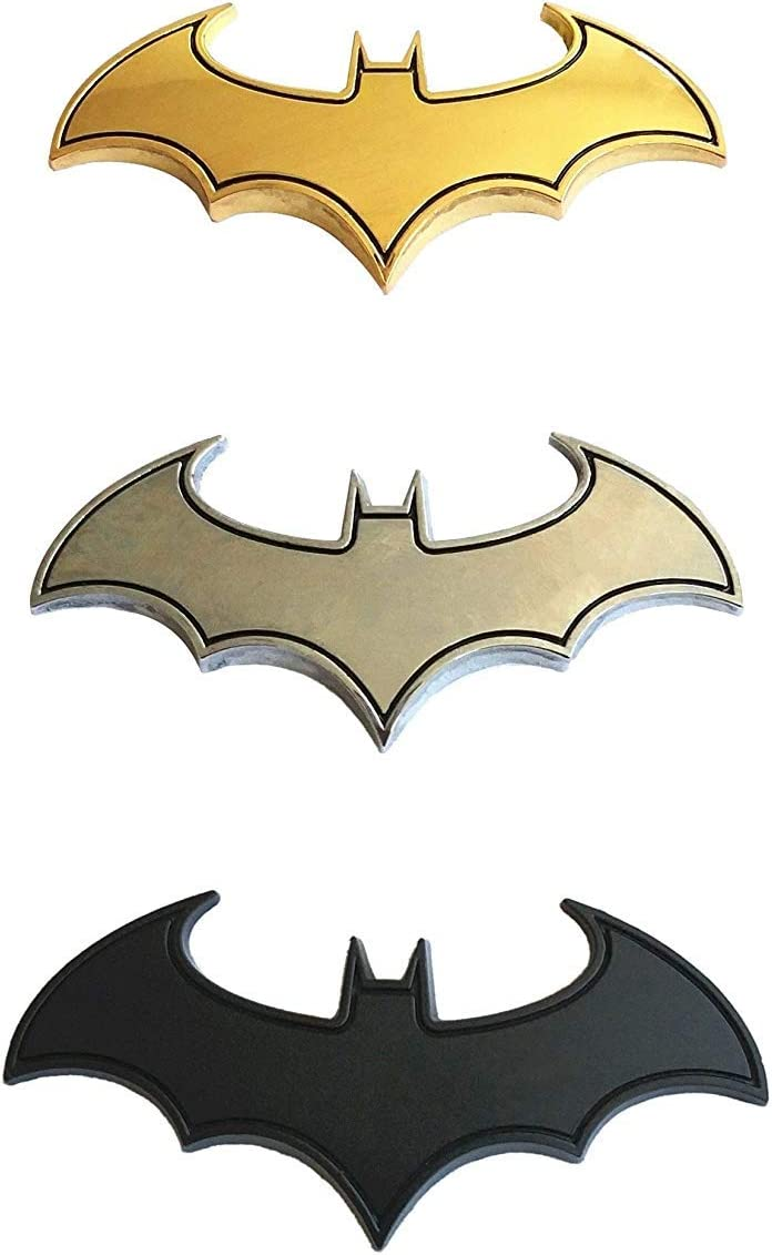 3D Batman Chrome Metal Motorcycle Auto Car Logo Sticker Emblem Badge Tail Decal