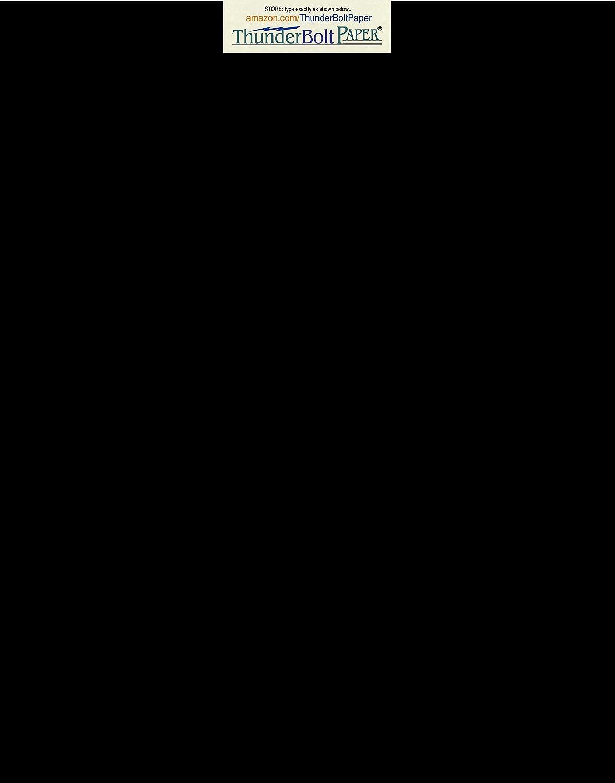 ダークブラック 滑らかなカード/カバーシート - 11インチ X 14インチ (11X14インチ) スクラップブック | 写真フレームサイズ - 80# (80ポンド/ポンド) - カバー重量ファインペーパー 滑らかな仕上げ B00ZB7S0FE
