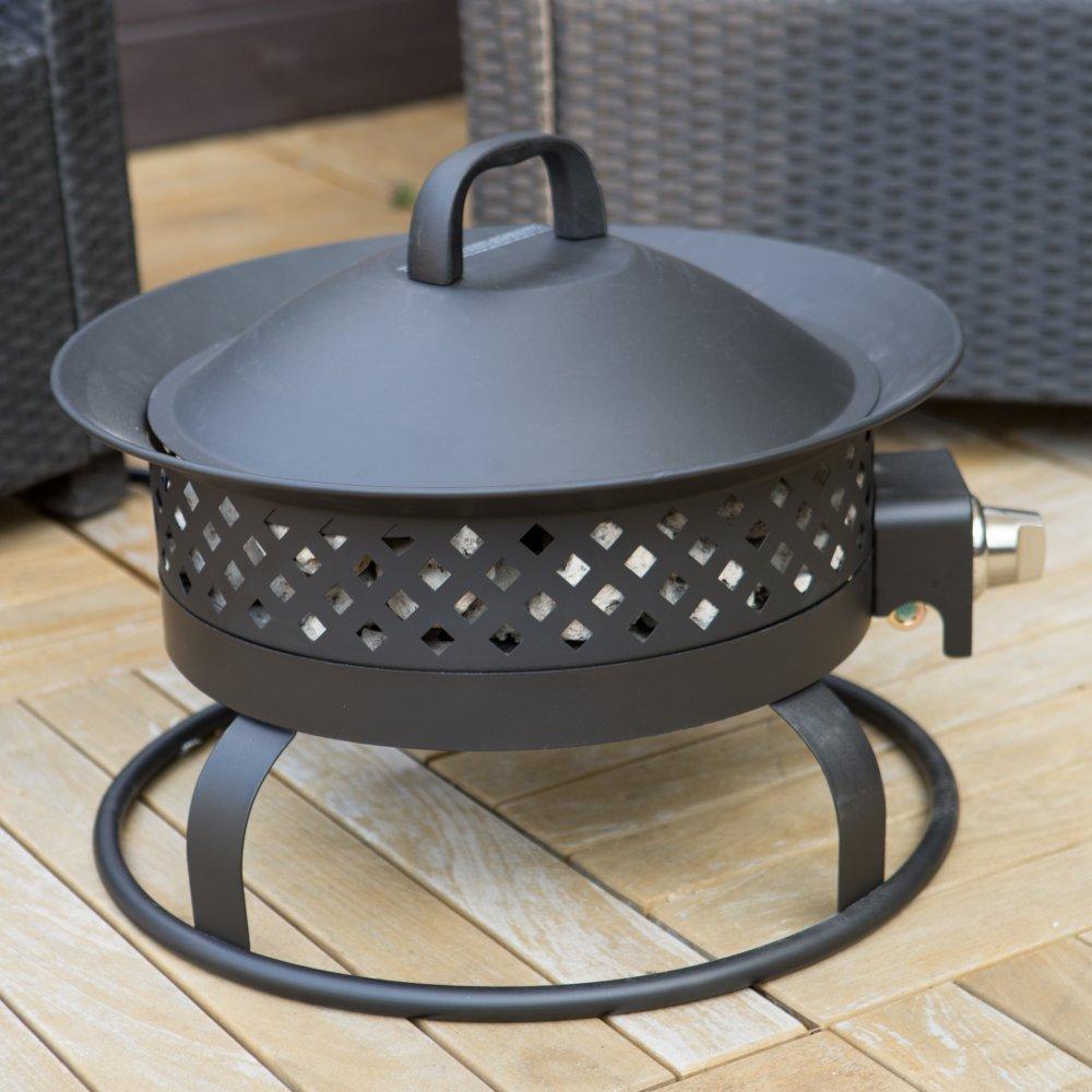 portable bronze propane 50k btu campfire fire pit