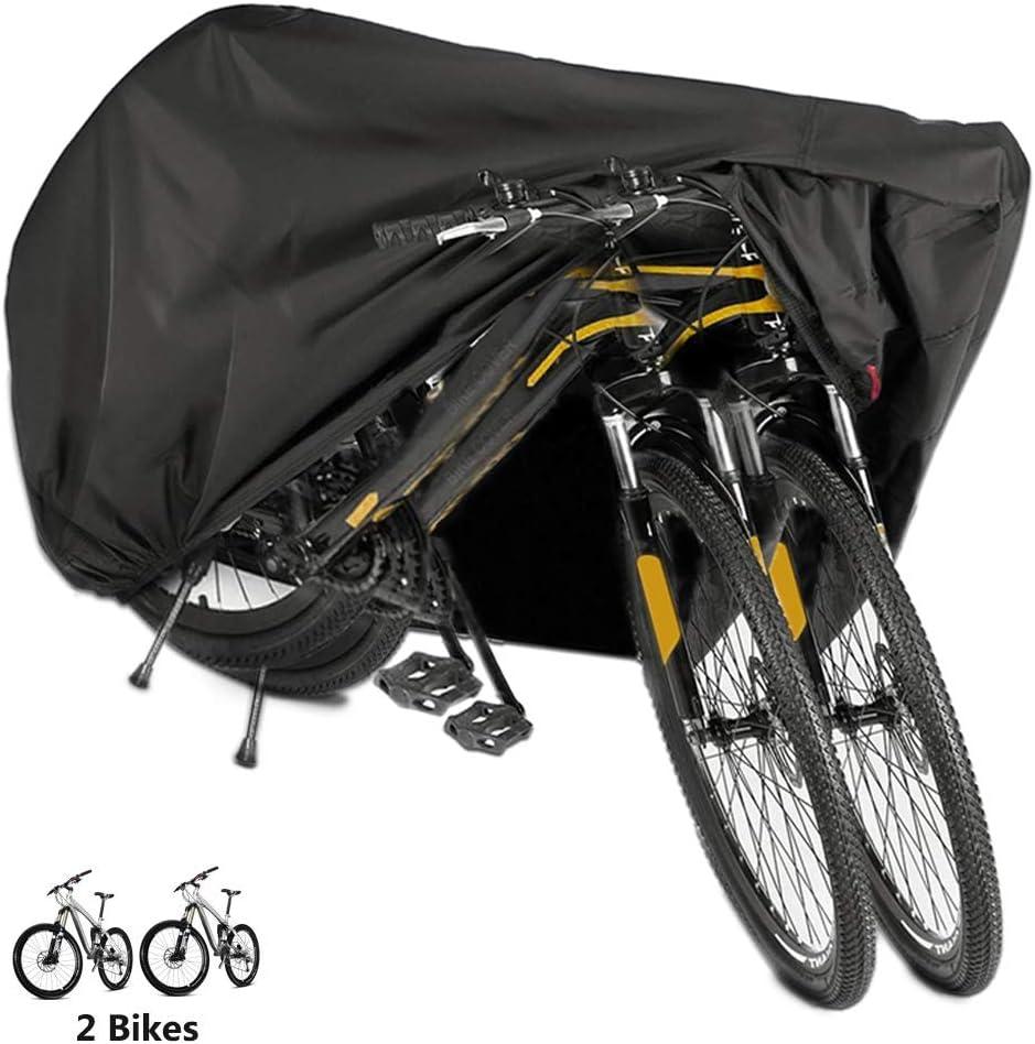 Funda Bicicleta, Nylón 190T Anti Polvo Resistente al Agua a Prueba de UV Cubierta Bicicleta para Bicicleta de Montaña y Bicicleta de Carretera (Negro)