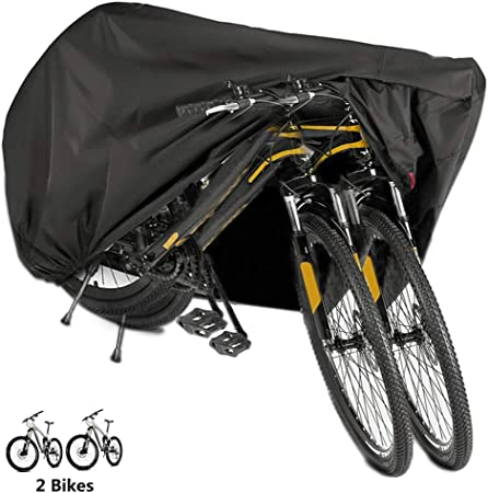 Double Bicycle Bike Cycle Cover Waterproof Rain Dust Sun Protector Resistant UK