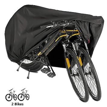 Funda Bicicleta, EMIUP Nylón 190T Anti Polvo Resistente al Agua a Prueba de UV Cubierta Bicicleta para Bicicleta de Montaña y Bicicleta de Carretera ...