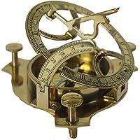 """4"""" Sundial Compass Solid Brass Sun Dial Compass"""