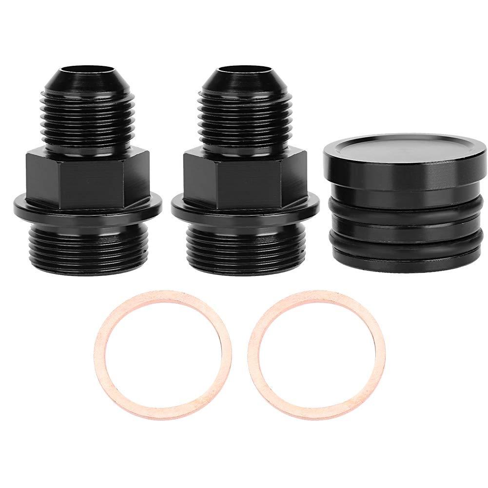 Qiilu Captura puede tap/ón de respiraci/ón del bloque trasero y accesorios M28-10AN apto para B16 B18C