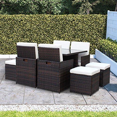 BillyOh Modica 8 plazas de ratán muebles de jardín cubo conjunto de comedor: Amazon.es: Jardín